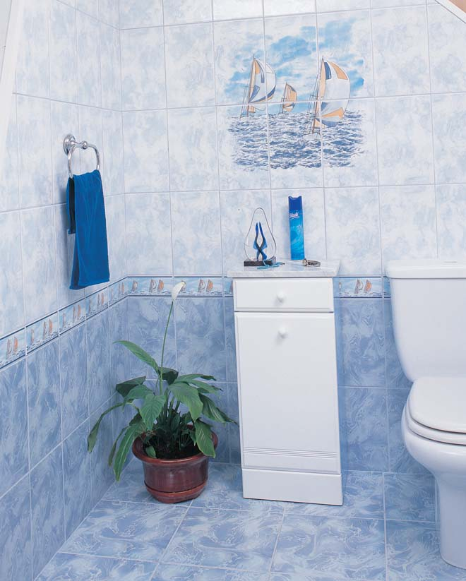 Облицовка ванной керамической плиткой