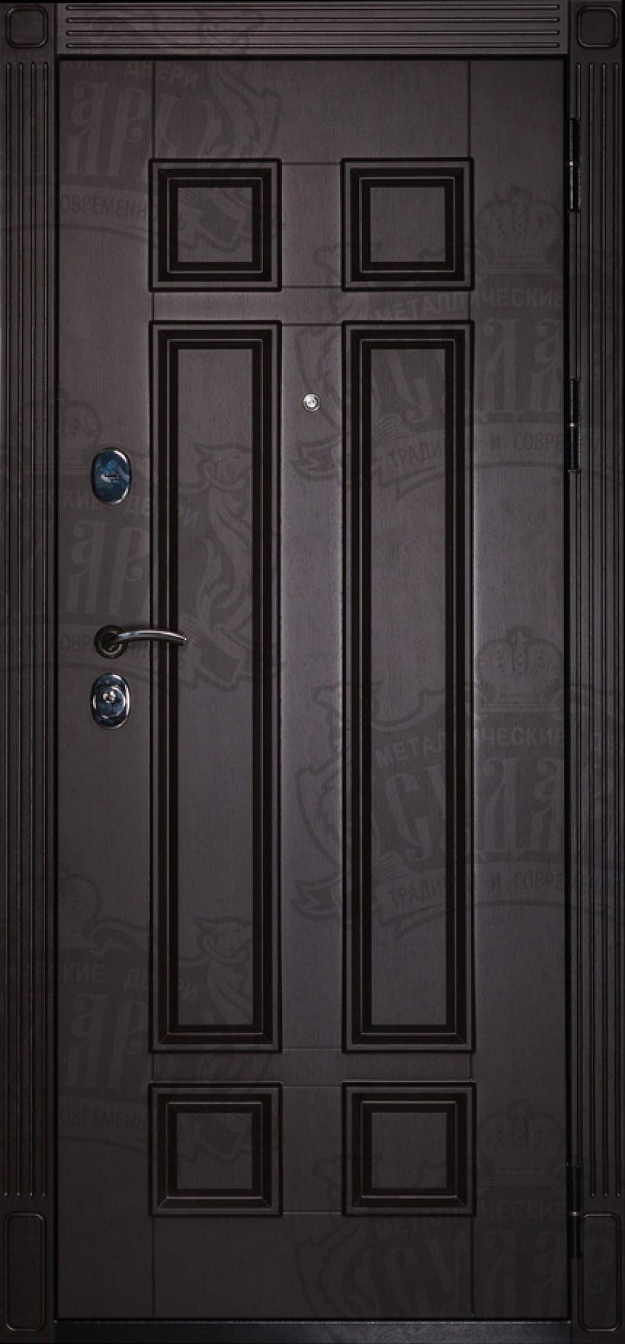 металлические высокие двери