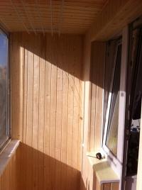 Обшивка балкона на Чкаловской