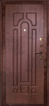"""Входная дверь """"ДИВА"""" МД-04 махагон-кор (медь)"""